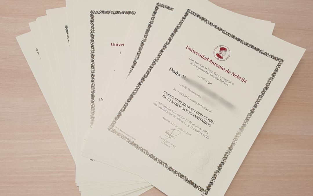 Diplomas Nebrija INEFSO