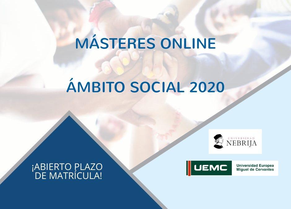 MÁSTERES SOCIAL 2020