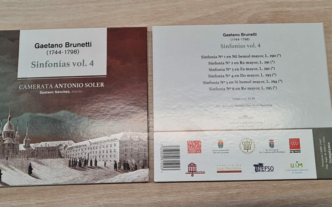 INEFSO ha patrocinado, junto con la Comunidad de Madrid, la Universidad Autónoma de Madrid y otras instituciones, el proyecto para la recuperación de la obra sinfónica de Brunetti.