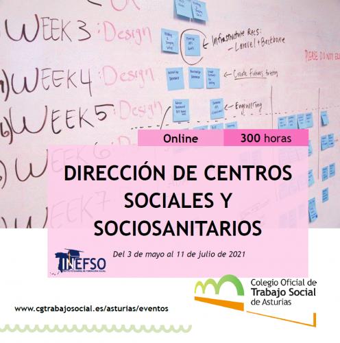 El Colegio de Trabajo Social de Asturias promueve un curso ONLINE de «Dirección de centros sociales y sociosanitarios» para estudiantes y profesionales del Trabajo Social de toda España.